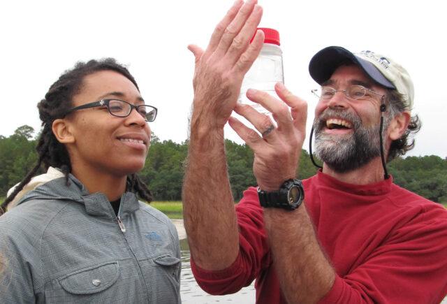 Professor Paul Bartels and student