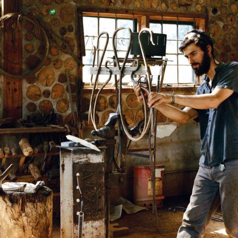 Student on Blacksmith Crew