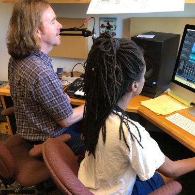 David O Bradshaw in the sound lab