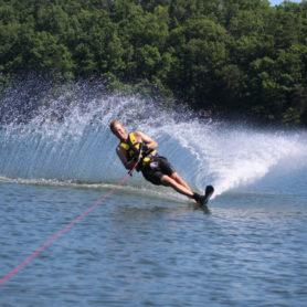 Robert Swoap waterskiing