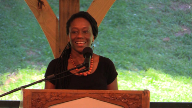 Creative writing professor Catina Bacote represented the faculty on the presidential search committee.