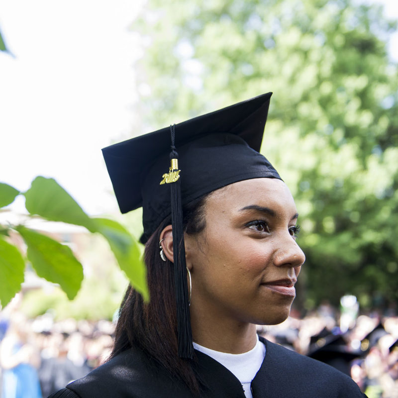 Student at 2015 graduation
