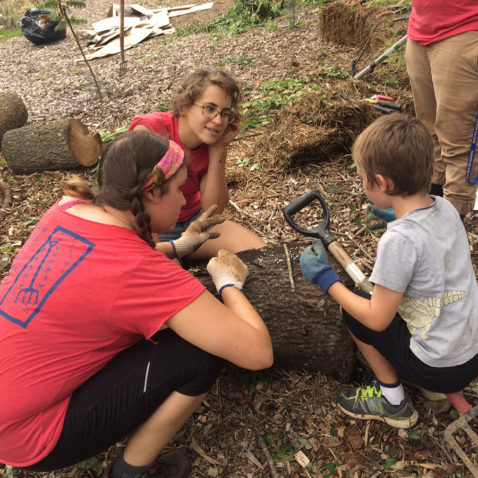 Students doing a Service Project