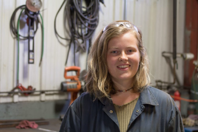 "Warren Wilson College sophomore Corinna Steinrueck helped create ""A Night at the Autoshop."""