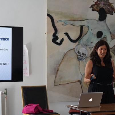 Julie Caro teaching