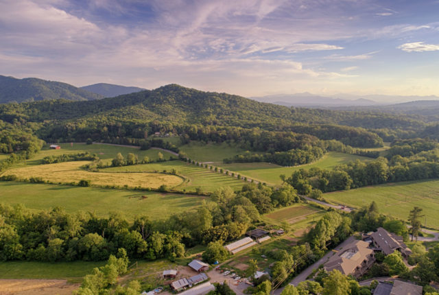 Aerial Landscape - Jones Mountain, Farm, and Garden