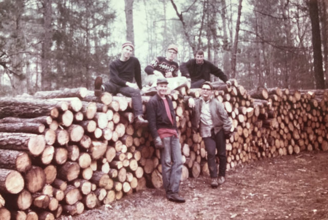 Tom Hertner with forestry crew