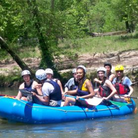 Spanish Immersion Rafting on French Broad River