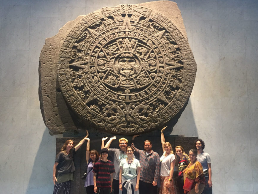Students at the Anthropology Museum in Mexico