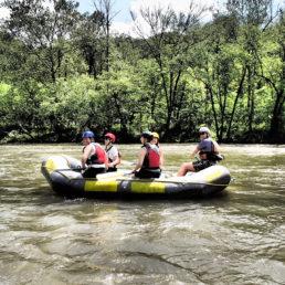 Students rafting