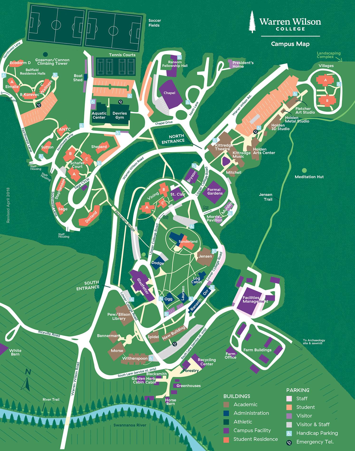 2018 Campus Map - Warren Wilson College on