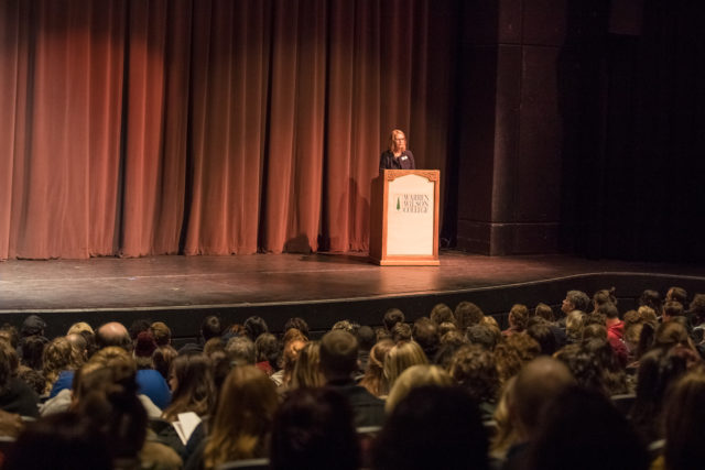 Lynn Morton addresses accepted students