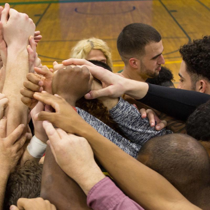 Basketball Huddle
